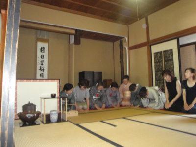 5月26日 茶道教室のお茶会